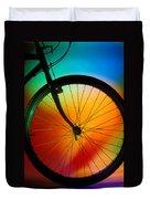 Bike Silhouette Duvet Cover