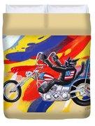 Biker Cat Duvet Cover