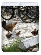 Biker Chicks Duvet Cover