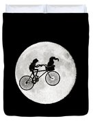 Biker Of The Moon Duvet Cover