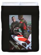 Bikers At The Horseshoe Pass Duvet Cover