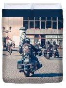 Bikers In Gdansk Duvet Cover