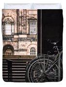 Bikes And University Duvet Cover