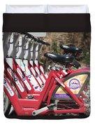 Bikes For Rent Duvet Cover