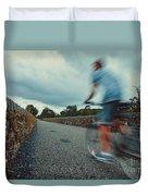 Bikes In Motion Near Durrow 1 Duvet Cover