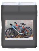Bikes Left Alone Duvet Cover