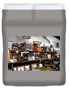Bikes On A Wall Duvet Cover