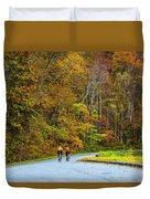 Biking On The Parkway Duvet Cover