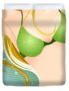 Bikini Blonde Duvet Cover by Sandra Hoefer
