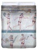 Bikini Girls Mosaic Duvet Cover