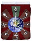 Bikram Yoga Duvet Cover