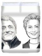 Bill And Hillary Duvet Cover