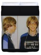 Bill Gates Mug Shot Horizontal Color Duvet Cover