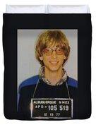 Bill Gates Mug Shot Vertical Color Duvet Cover