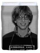 Bill Gates Mug Shot Vertical Black And White Duvet Cover