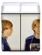 Bill Gates Post Impressionist Mugshot Duvet Cover