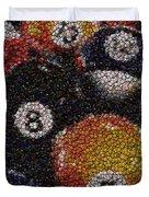 Billiard Ball Bottle Cap Mosaic Duvet Cover