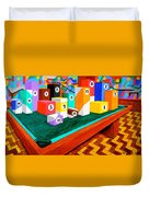 Billiard Table Duvet Cover