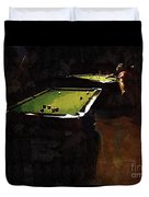 Billiards Ballet Duvet Cover