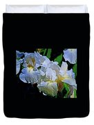 Billowing White Irises Duvet Cover