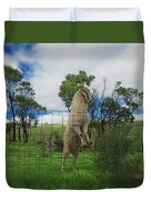 Billy Goat At The Lookout Post Duvet Cover