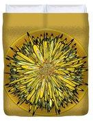 Billy Jean -- Floral Disk Duvet Cover