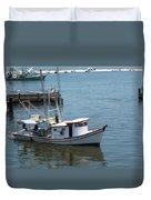 Bilouxi Shrimp Boat Duvet Cover