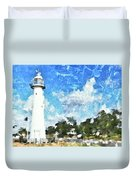 Biloxi Lighthouse Duvet Cover