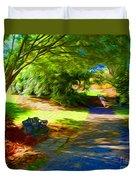 Biltmore Mansion Walking Path Duvet Cover