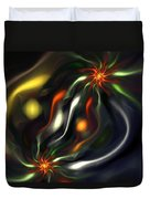 Binary Attractors Duvet Cover