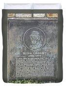 Bing Crosby Pebble Beach I Duvet Cover