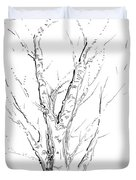 Birch Abstraction Study Duvet Cover