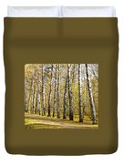 Birch Alley In Autumn Duvet Cover