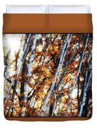 Birch And Oak And Sun Duvet Cover