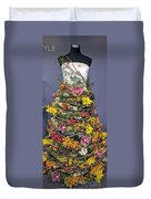 Birch And Orchid Twig Dress Exhibit Piece Duvet Cover