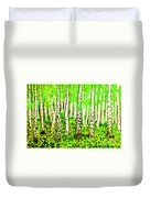 Birch Forest, Painting Duvet Cover