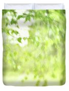 Birch In Spring Duvet Cover