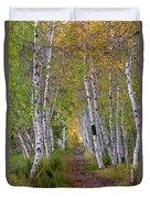 Birch Path Duvet Cover