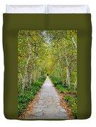 Birch Pathway Perspective Duvet Cover