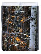 Birch Tree In Winter Duvet Cover