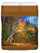 Birch Trees - Autumn Duvet Cover