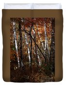 Birch Trees In The Fall Duvet Cover