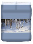 Birch Trees In The Snow, South Duvet Cover