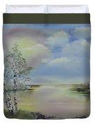 Birch Trees Landscape Duvet Cover