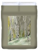 Birches Before Spring Duvet Cover