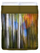 Birches In Autumn Forest Duvet Cover