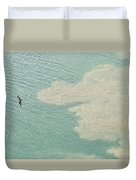 Bird And Churning Sand Duvet Cover