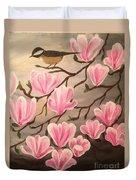 Bird And Flowers Duvet Cover
