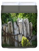 Bird And Pilings Duvet Cover