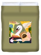 Bird Composition Duvet Cover
